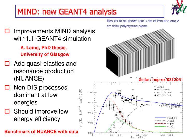 MIND: new GEANT4 analysis
