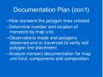 documentation plan con t