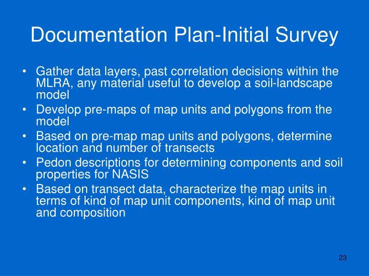 Documentation Plan-Initial Survey