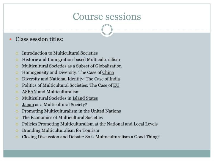 Course sessions