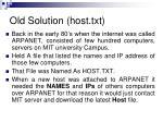 old solution host txt