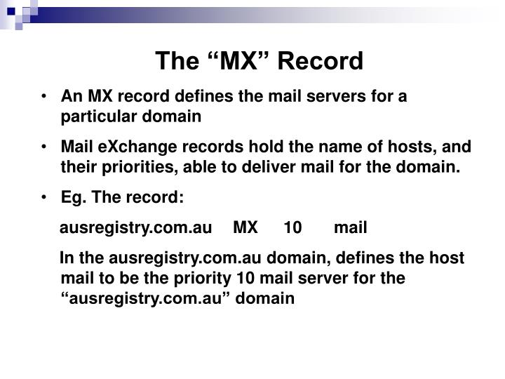 "The ""MX"" Record"