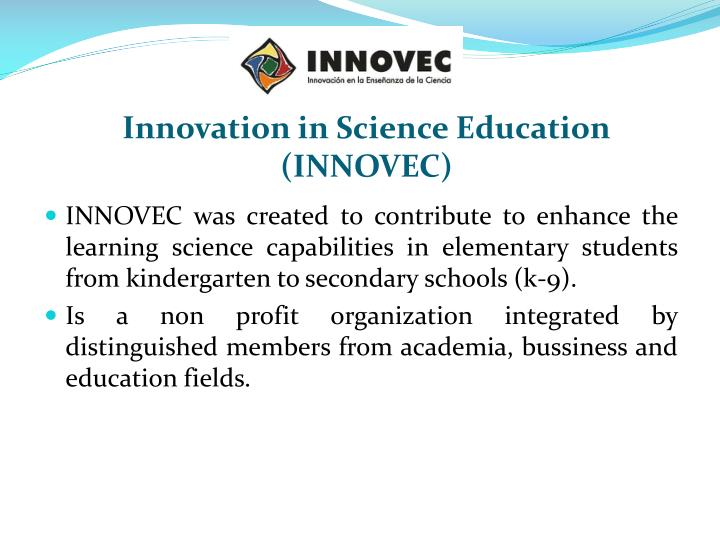 Innovation in science education innovec