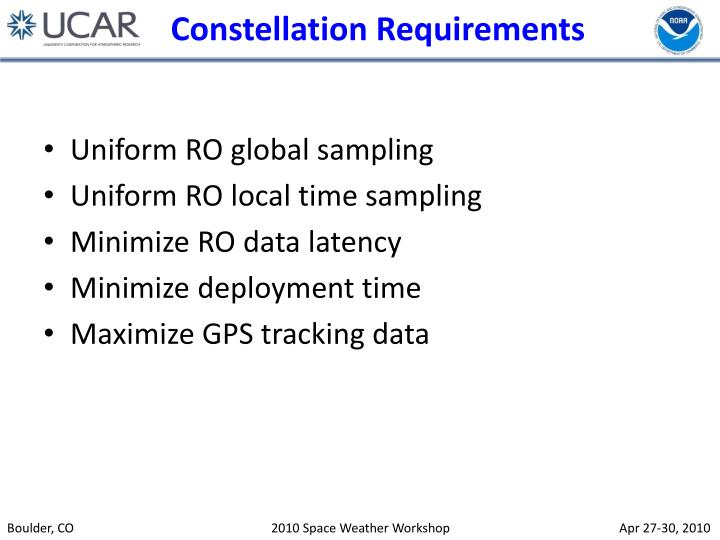 Constellation Requirements