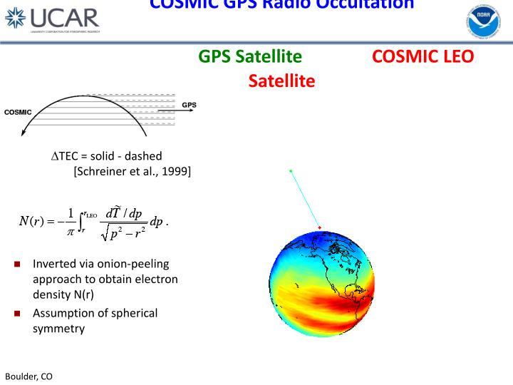 COSMIC GPS Radio Occultation