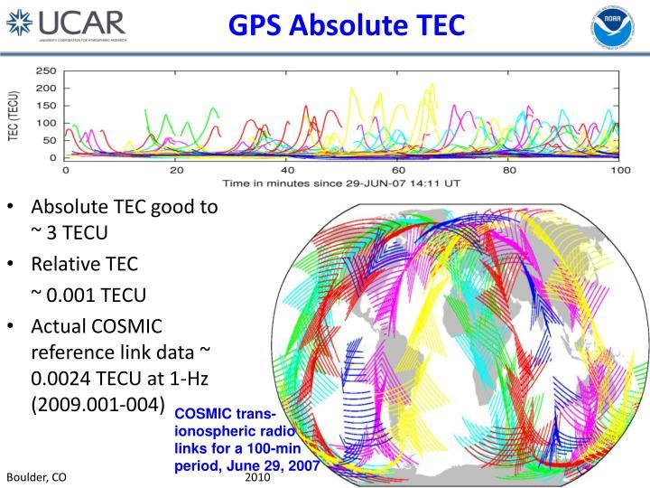 GPS Absolute TEC
