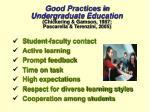 good practices in undergraduate education chickering gamson 1987 pascarella terenzini 2005