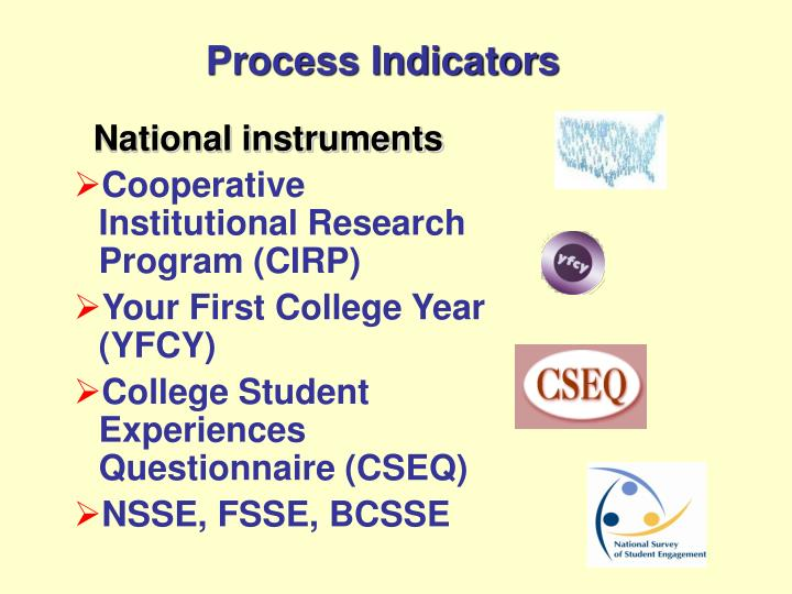 Process Indicators