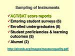 sampling of instruments