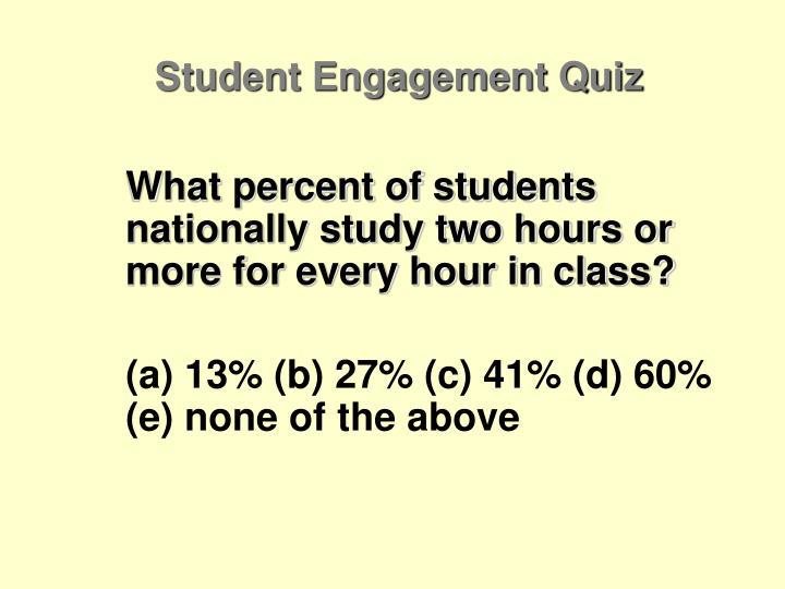 Student Engagement Quiz