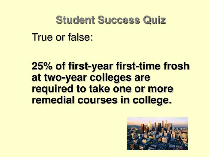 Student Success Quiz