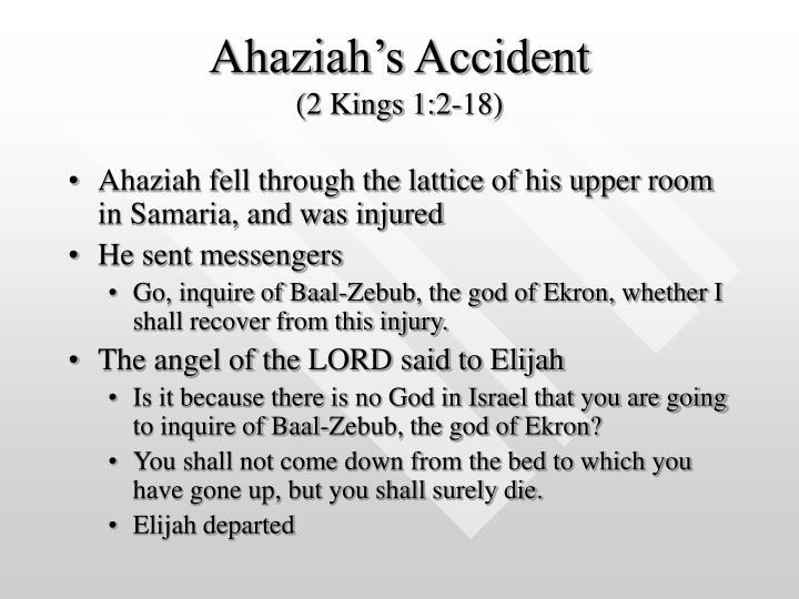 Ahaziah's Accident