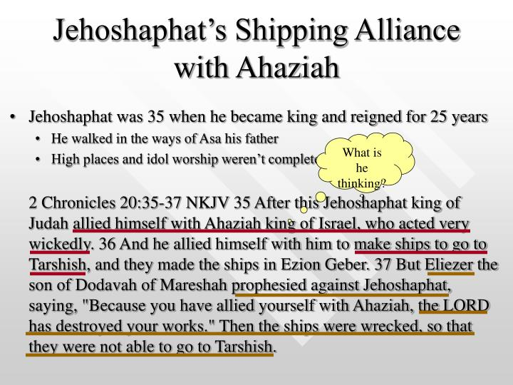 Jehoshaphat's Shipping Alliance with Ahaziah