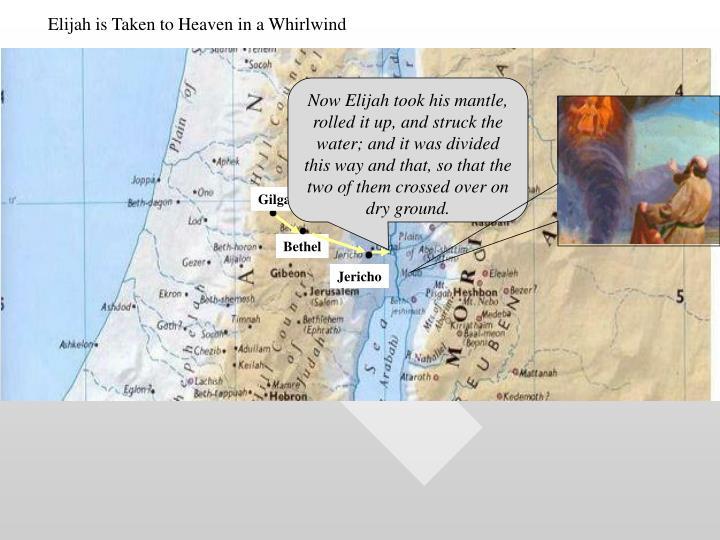 Elijah is Taken to Heaven in a Whirlwind