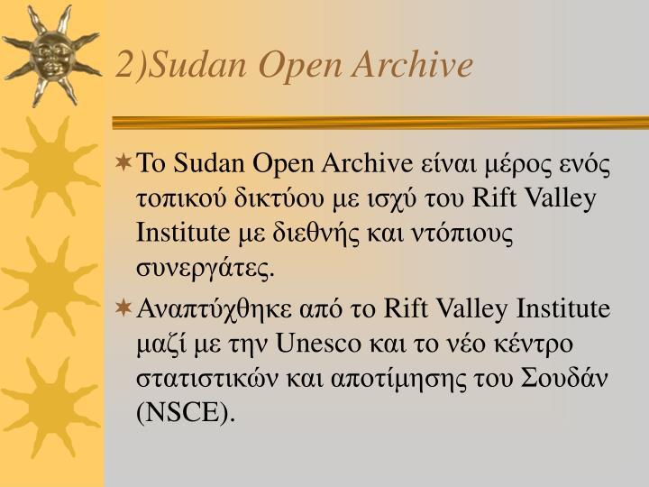 2)Sudan Open Archive