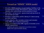 toward an sdmx sdds model