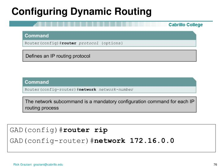 Configuring Dynamic Routing