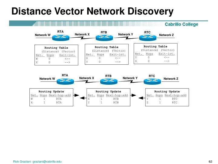 Distance Vector Network Discovery