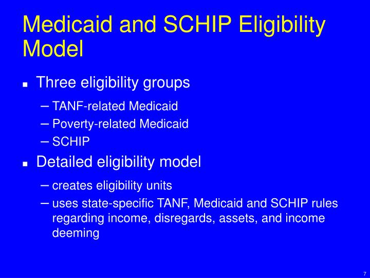 Medicaid and SCHIP Eligibility Model