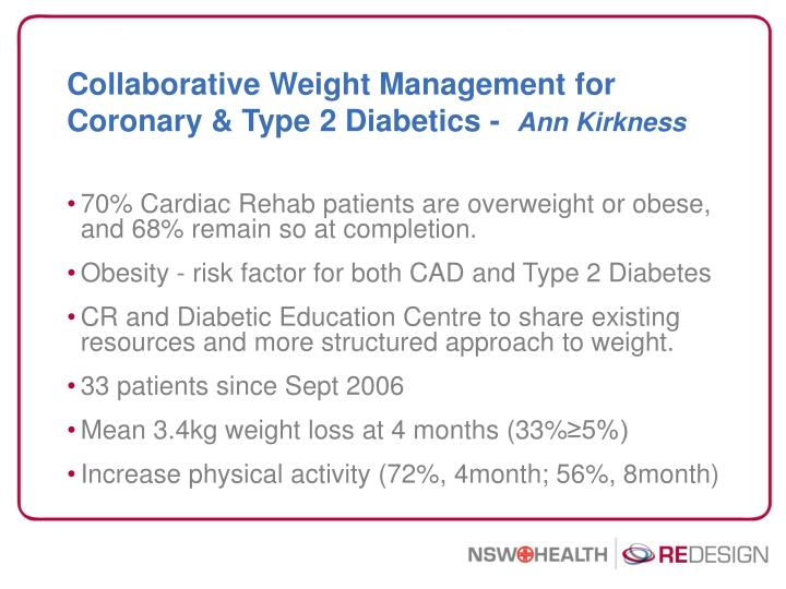 Collaborative Weight Management for Coronary