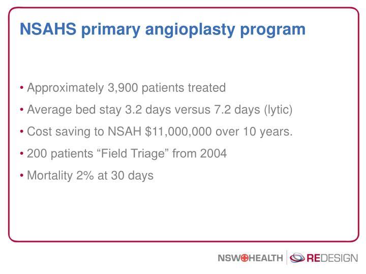 NSAHS primary angioplasty program