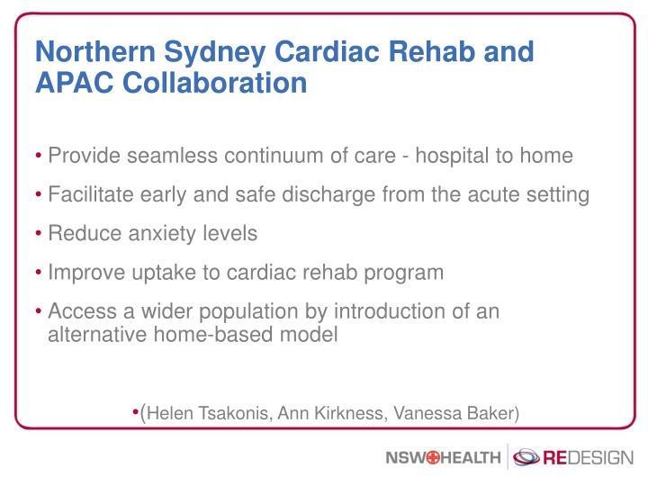 Northern Sydney Cardiac Rehab and APAC Collaboration