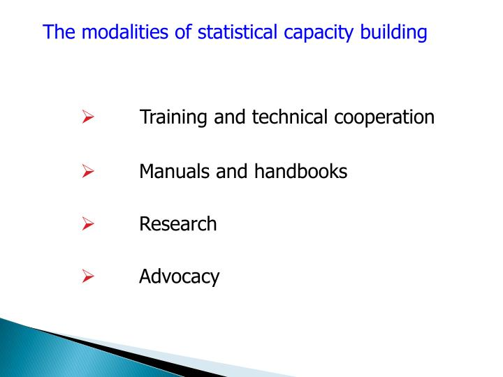 The modalities of statistical capacity building