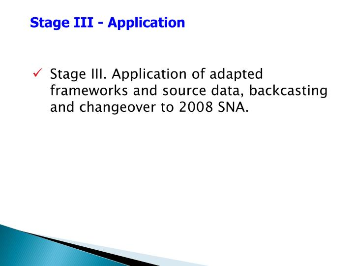 Stage III - Application