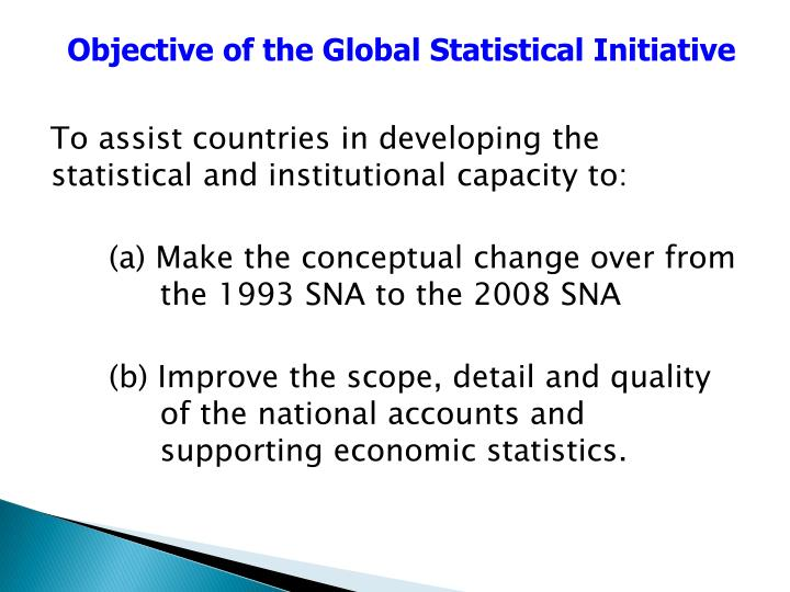 Objective of the Global Statistical Initiative