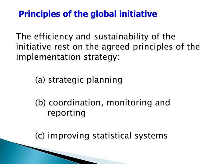 Principles of the global initiative