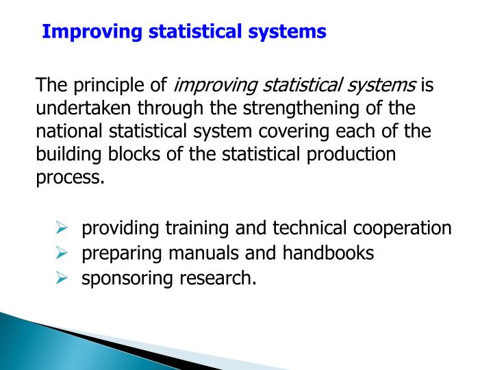 Improving statistical systems