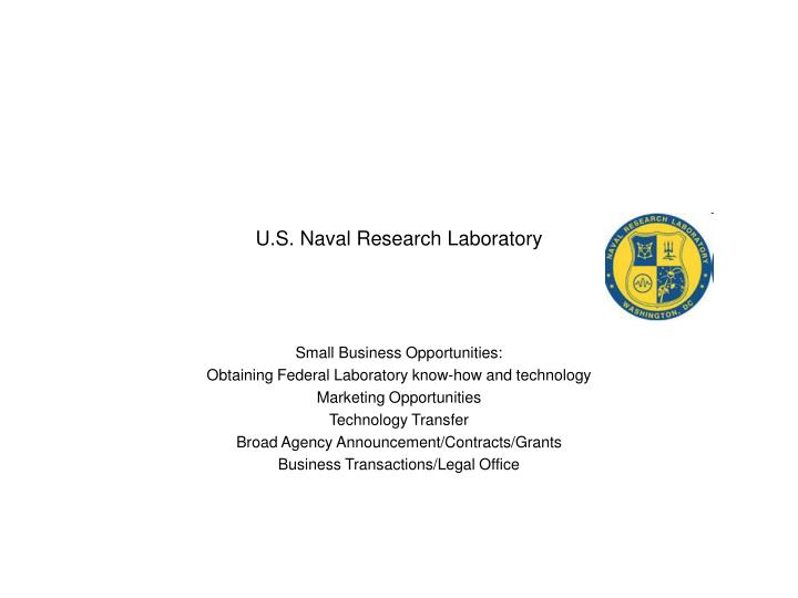 U s naval research laboratory