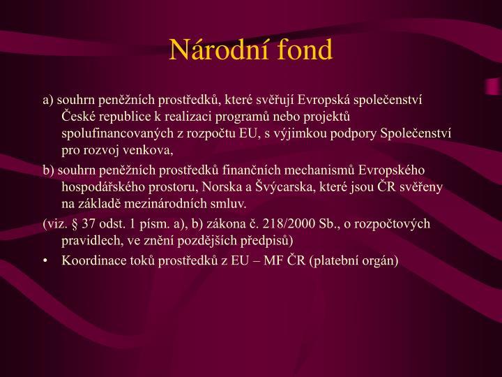 Národní fond