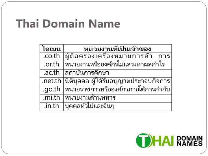 Thai Domain Name