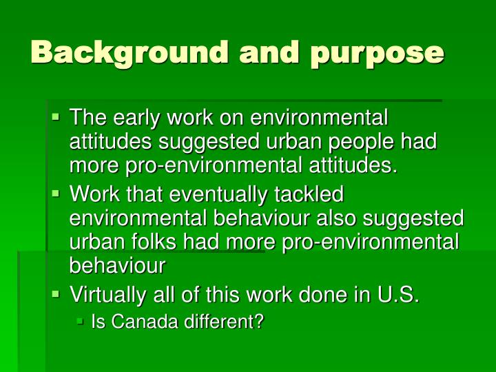 Background and purpose1