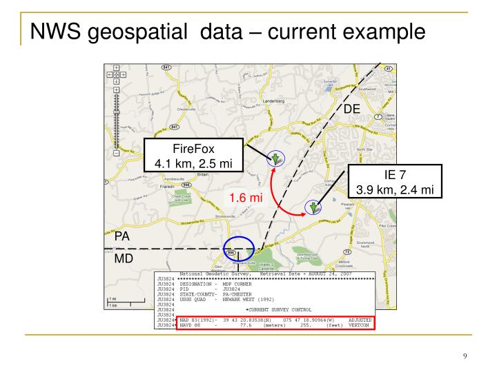 NWS geospatial  data – current example