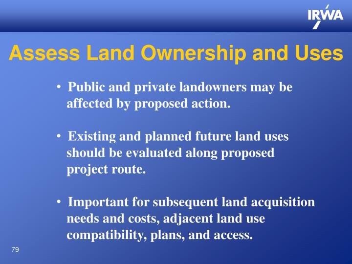 Assess Land Ownership and Uses