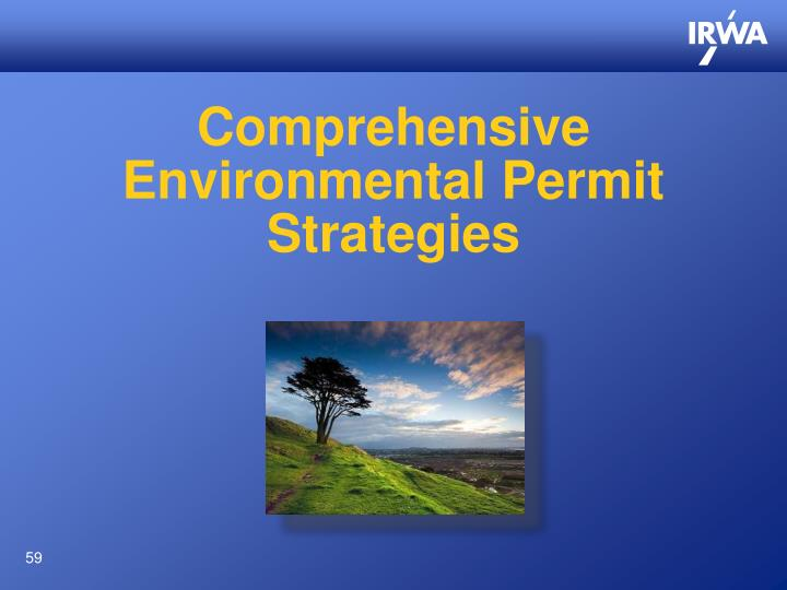 Comprehensive Environmental Permit Strategies
