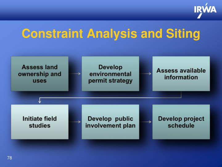 Constraint Analysis and Siting