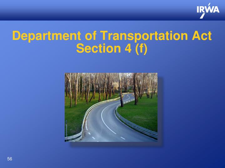 Department of Transportation Act