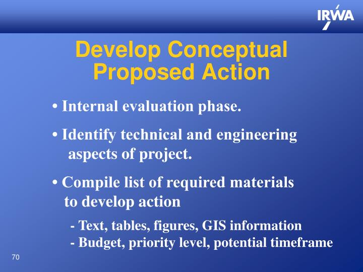 Develop Conceptual