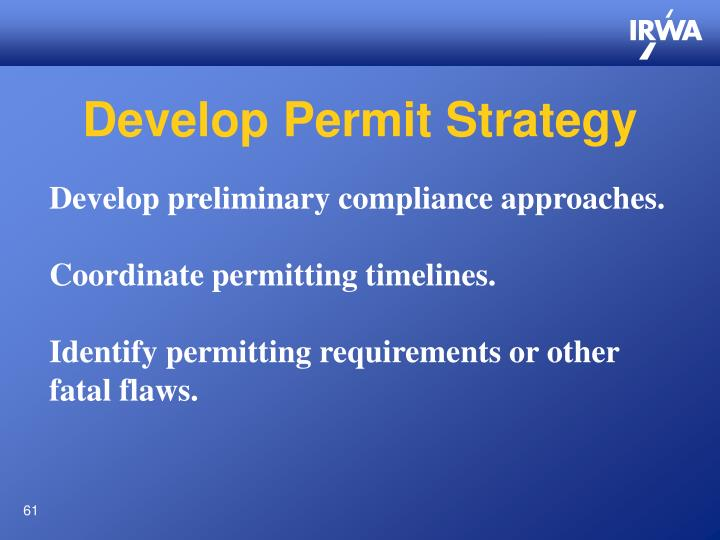 Develop Permit Strategy