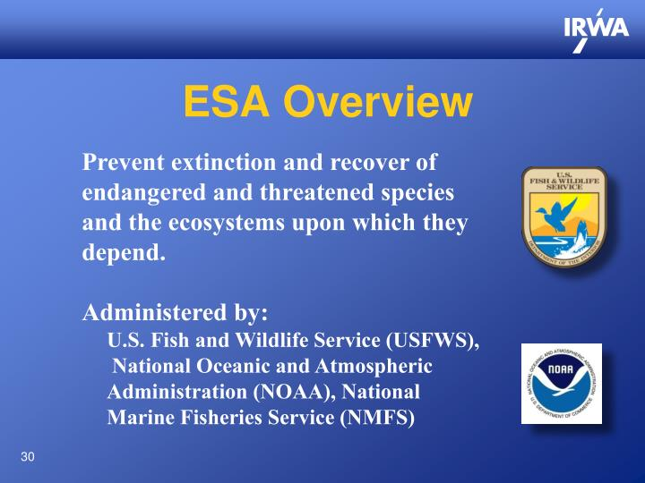 ESA Overview