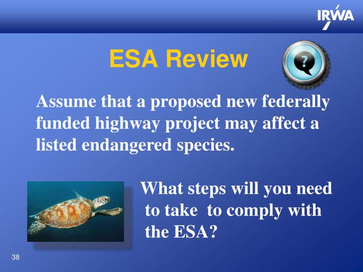 ESA Review