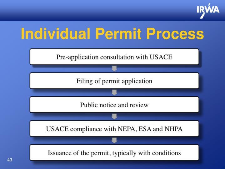 Individual Permit Process