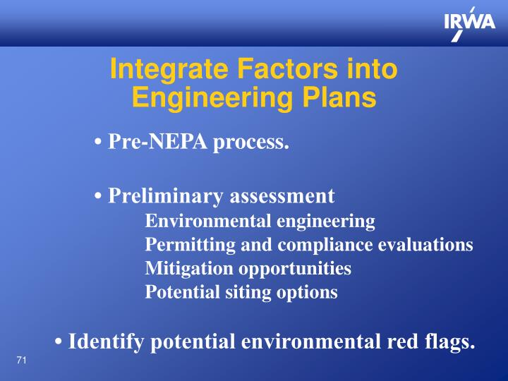 Integrate Factors into
