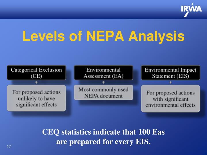 Levels of NEPA Analysis