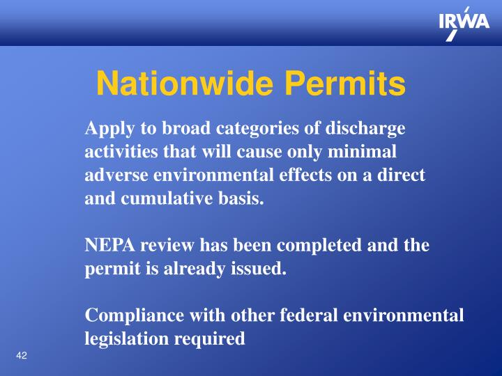 Nationwide Permits