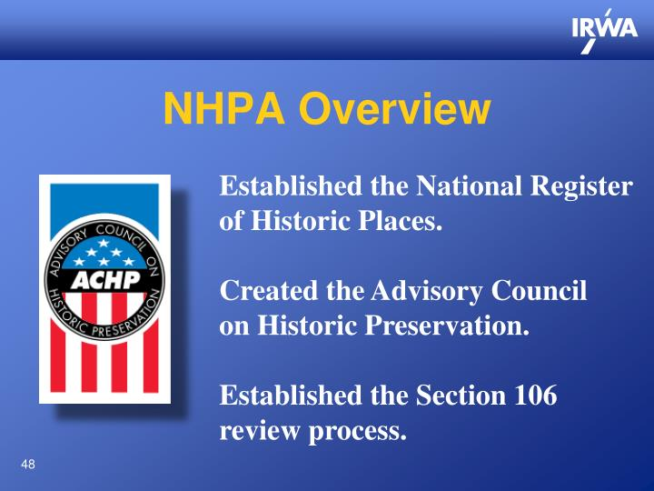 NHPA Overview