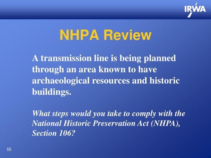 NHPA Review
